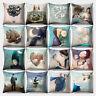 EE_ Fashion Cartoon Girl Throw Pillow Case Sofa Bed Car Decor Cushion Cover Reli