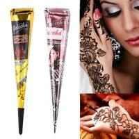 25g Natural Herbal Henna Cones Temporary Tattoo Kit Body Art Paint Mehandi Ink