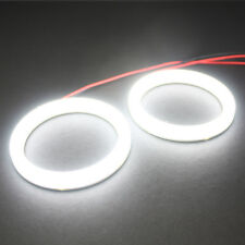 2x 80mm Cotton LED Angel Eye Halo WHITE Light Ring SMD lamp DRL-White Xenon
