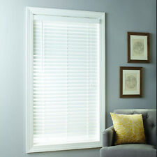 "White Faux Wood Window Blinds 2"" Inch Cordless PVC Room Shade Multiple Sizes"