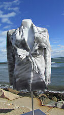 NEW XL The Pyramid Collection jacket tie dyed ombre gray white top sweater coat