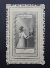 CANIVET à système BOUMARD Persévérance image Pieuse HOLY CARD 19thC Santino
