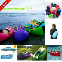 Inflatable Air Sofa Bed Lazy Sleeping Bag Beach Chair Outdoor Hangout Camping