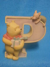 Disney Classic Winnie the Pooh Piglet Figurine Letter Initial P