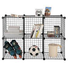 6 Cube Storage Set Wire Organizer Standing Storage Unit Kids Toys Garage Shelves
