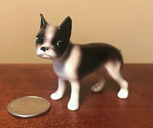 Hagen-Renaker Mini #176 BOSTON TERRIER - Miniature Ceramic Dog Figurine - 1 FLAW