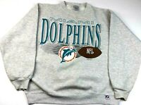 Logo 7 Vintage NFL Gray Large Miami Dolphins 1992 Sweater