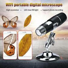 1000X Wifi USB Digital Mikroskop Lupen Kamera 8LED mit Ständer für Android IOS