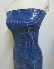 2 yards stretch spandex slinky with soft lurex and silver sequin decoration