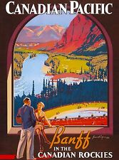 Banff Canadian Pacific In the Rockies Canada Travel Advertisement Poster