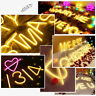 LED Neon Sign Light Wall Letters Heart Hanging Lamp Home Xmas Wedding Party Deco
