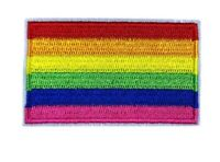 LGBT Embroidered RAINBOW PRIDE Flag Small Iron On / Sew On Patch Badge 6 x 3.9cm