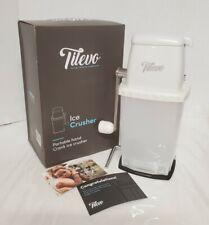 Tilevo Portable Manual Ice Crusher Shaved Ice Machine Manual Hand Crank Operated
