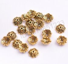 100PCS Tibetan Silver Gold Spacer beads Flowers Bead Caps Findings 8MM M3113
