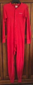Carhartt Men's Midweight Cotton Union Suit Long Johns K12 Red Medium USA made