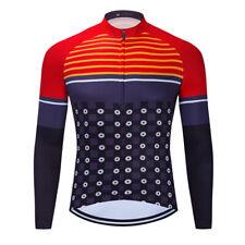 Mens Long Sleeve Cycling Jerseys Outdoor Sports Riding Bike Shirt Women DKGEMN