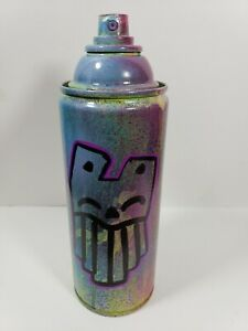 PUKE rusty cat nyc Graffiti Art hand painted empty Spray Paint Can street art