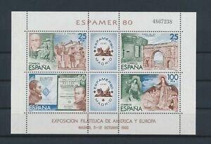 LO17793 Spain 1980 philatelic exhibition good sheet MNH