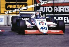 9x6 fotografia EMERSON FITTIPALDI MARZO 85C carrello GRAND PRIX DI LONG BEACH 1985