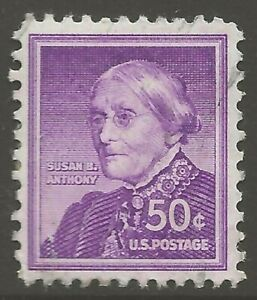 1958 U.S. #1051 50¢ Susan B. Anthony From the Liberty Series Hand Stamped ULH