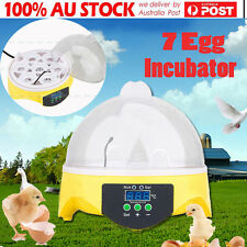 Mini Charms Digital 7 Egg Capacity Chicken Duck Bird Hatch Incubator Tool Kit DH