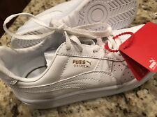 67f132783d86 NEW Kids Boys Girls PUMA V6 Special White Leather