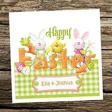 Personalised Bunnies Easter Card Boys/Girls