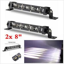 2x 60W 8inch LED Work Light Bar Spot Driving Fog Light Off Road SUV Truck 6000K