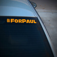 Per Paul Paul Walker Decalcomania Sticker FAST AND FURIOUS Riposa in Pace Finestrino Auto Van