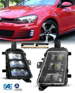 For 15-16 Volkswagen Golf GTI OE Style Replacement LED Fog Lights Assembly Pair
