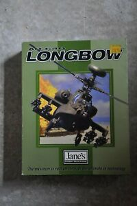 Jane's Combat Simulations AH-64D Longbow Vintage Big Box PC CD-ROM game complete