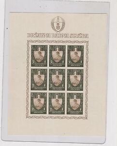 CROATIA,WW II ,labour 1943 ,2+1 kn  imperforated sheet ,no gum #