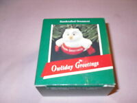 Hallmark Keepsake Ornament Owliday Greetings With Box 1989 Owl Bird Christmas