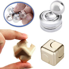 Silver Orbiter Fidget Spinner Magnet Hand Spinner Roll +Cube Gyro EDC Focus Toys