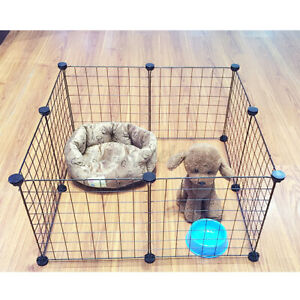 8 Panels Foldable Pet Dog Puppy Playpen Crate Fence Kennel Exercise Animal
