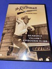 THE RIFLEMAN original series TV SERIES SEASON 4 VOLUME 1 DVD  USED VERY GOOD