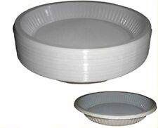 """50 X White 10"""" Strong Plastic Party Plates"""