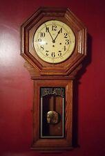 000 Vintage Regulator Wall Clock Model 725 Oak Franz Hermle