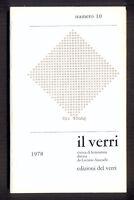 IL VERRI sesta serie n. 10 1978 copertina Adriano Spatola