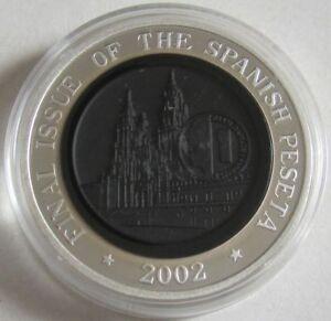 Samoa 10 Tala 2002 Euroeinführung Spanische Peseta 1 Oz Silber