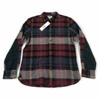 Calvin Klein Mens Flannel Button Shirt Red Plaid Variety Sizes