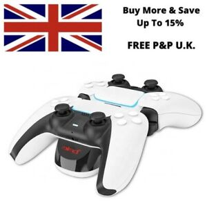 Dual PS5 DualSense Controller Charger Dock For PlayStation 5 Charging Station