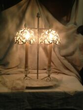 """Vintage Shabby Chic Metal Candle Holder Wall Sconces White 19-1/2""""H"""