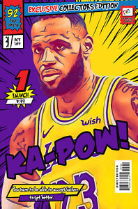 LeBron James Comic Book Covers Art Print (Available In 4 Formats)