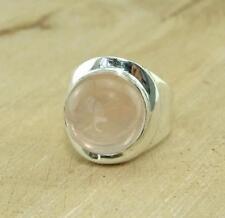Anillos de joyería con gemas cuarzo rosa