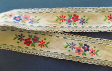 Beautiful Vintage  Embroidered  Strip (Ribbon) №1