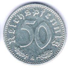 III. Reich 50 Reichspfennig 1935 A. (Alu.) Jaeger 368, ss/vz