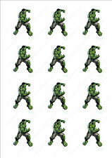 Novelty The Incredible Hulk Stand Up Fairy Cake Cupcake Toppers Edible Birthday