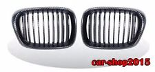 FRONT KIDNEY GRILLE GRILLS Carbon Look for BMW E39 97-03