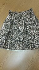 Sexsy Honey Punch Mint Bandage Ruffle Skirt -Lepord print Scuba Skater Size S